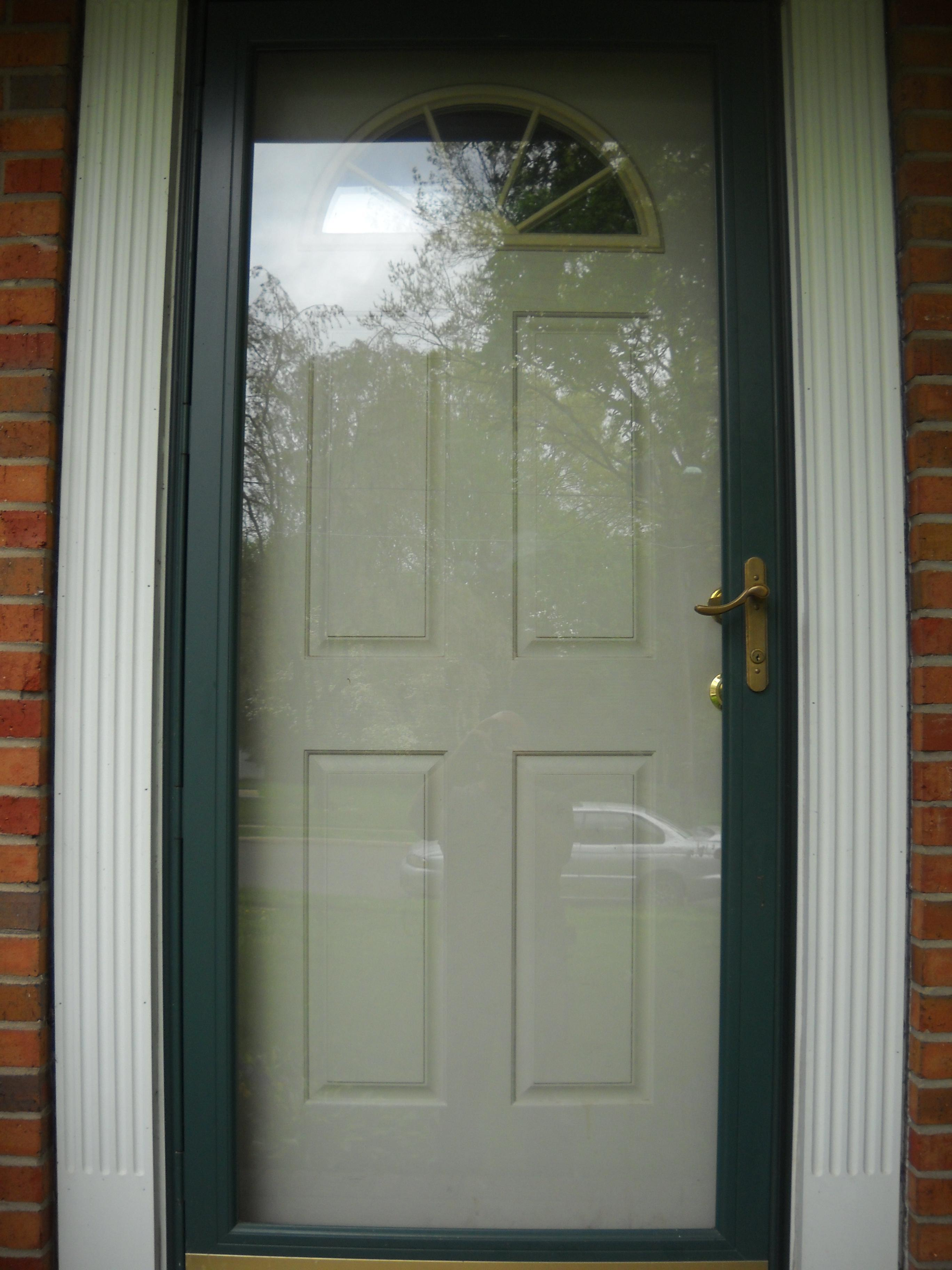Storm door painted white storm door lever handle set custom storm door latches pushbutton locking view full size eventelaan Image collections