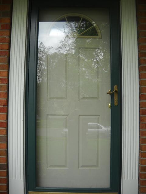 Andersen storm door thermatru front for Front door with storm door